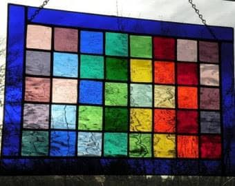 Example Stained Glass Satin Squares
